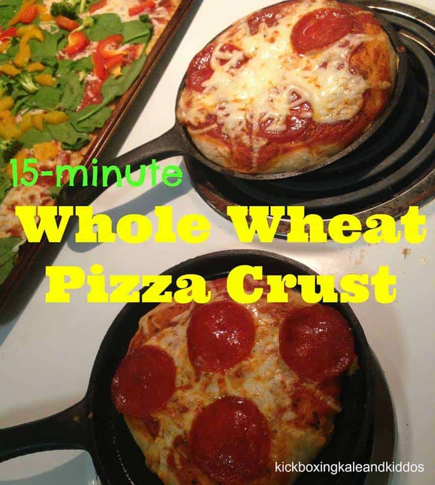 15 Minute Whole Wheat Pizza Crust