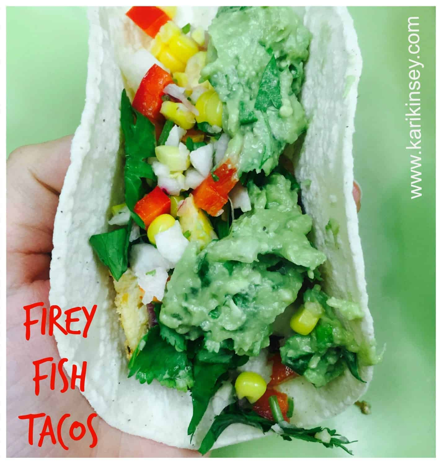 Healthy Fire-y Fish Tacos