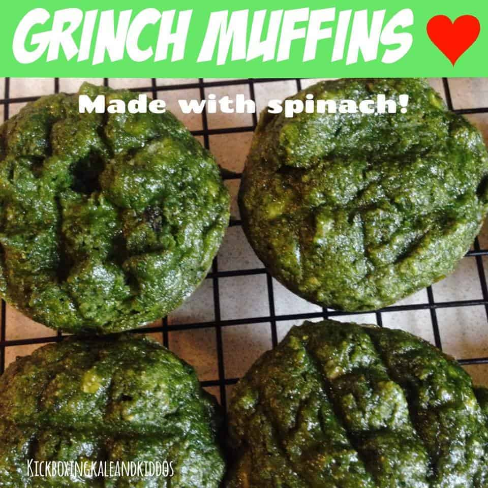 Grinch Muffins (made with spinach)