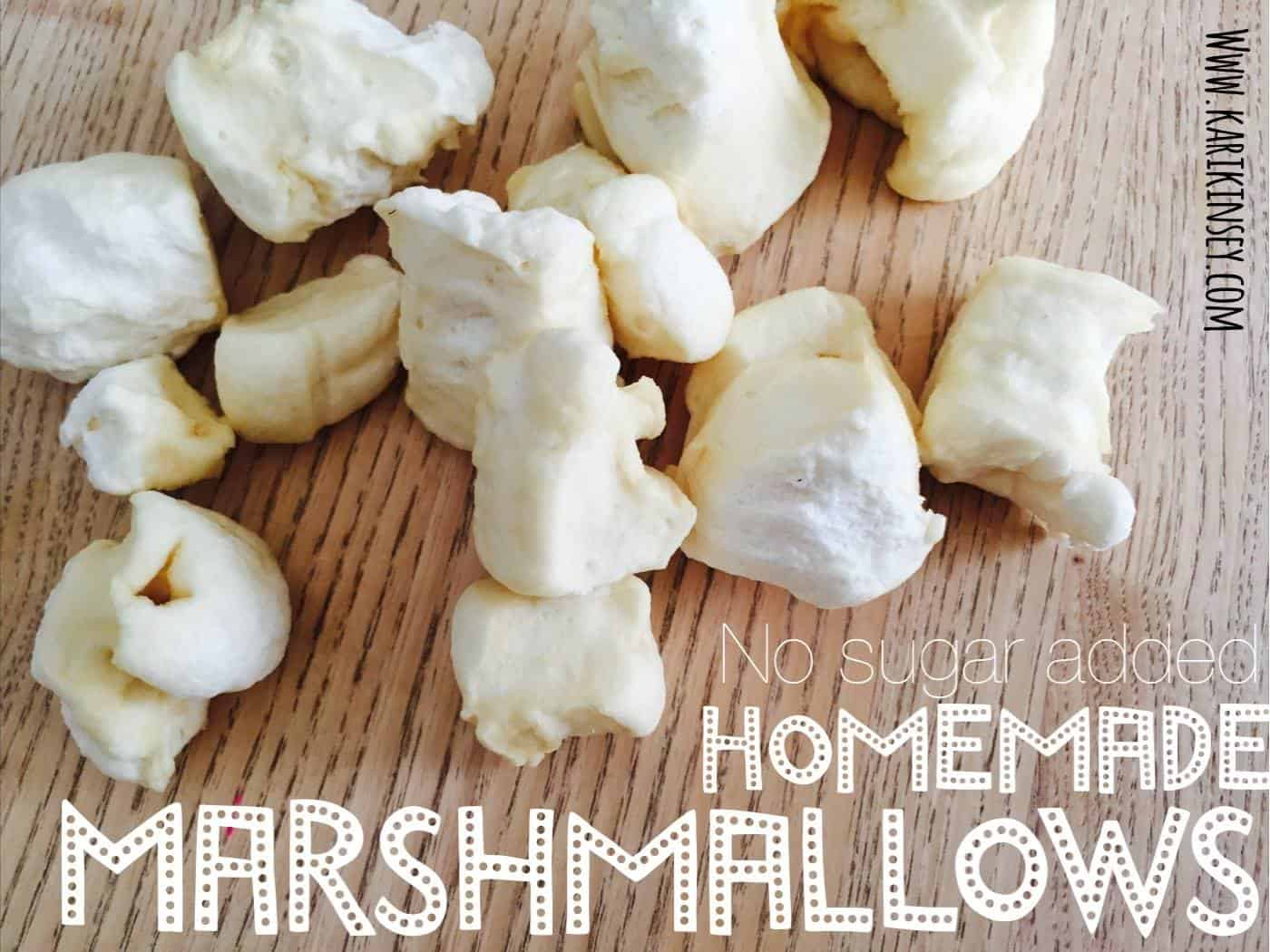 No Refined Sugar- Homemade Marshmallows