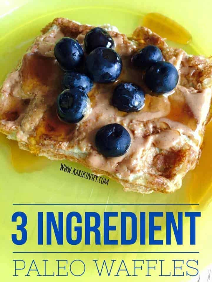 3-Ingredient Paleo Waffles